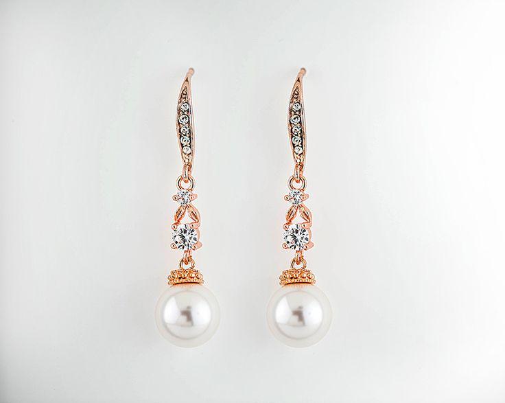 Swarovski Pearl Chandelier Earrings, Crystal Bridal,Bridesmaids jewelry   BAILEE
