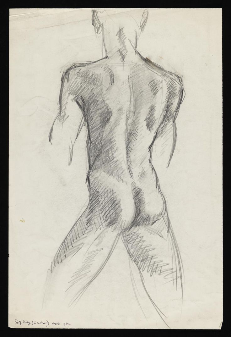 Keith Vaughan Drawing entitled 'Self Study (in mirror)' [1932]