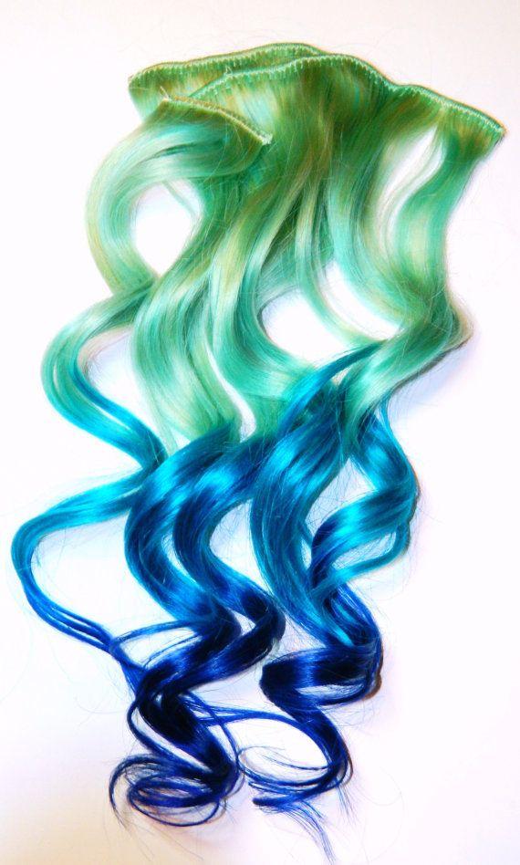 Pastel Mermaid Hair Extensions, Clip in Hair Extensions