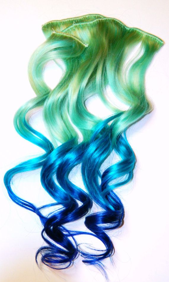 Pastel Mermaid Ombre Clip In Human Hair by CandyAppleLocks on Etsy, $85.00