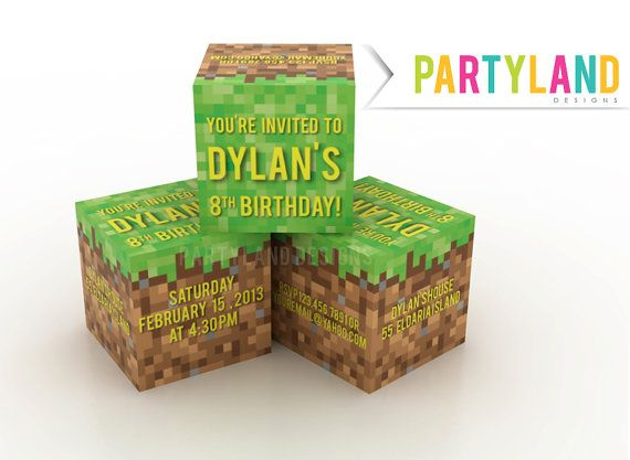 Best Minecraft Party Images On   Birthday Party