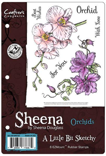 Sheena's A Little Bit Sketchy EZMount™ Stamp Set - Orchids