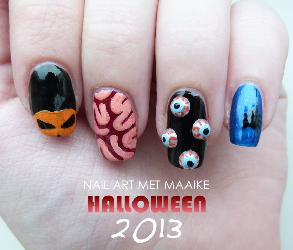 20 best halloween nails images on pinterest halloween nail art nail art met maaike halloween 2013 prinsesfo Choice Image