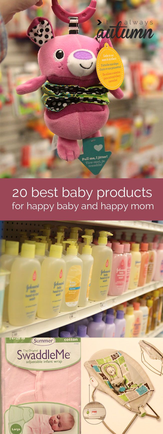 20 best baby products for a new mom - honestly, no one needs all of these things, but many of them would sure make life easier! | via @It's Always Autumn