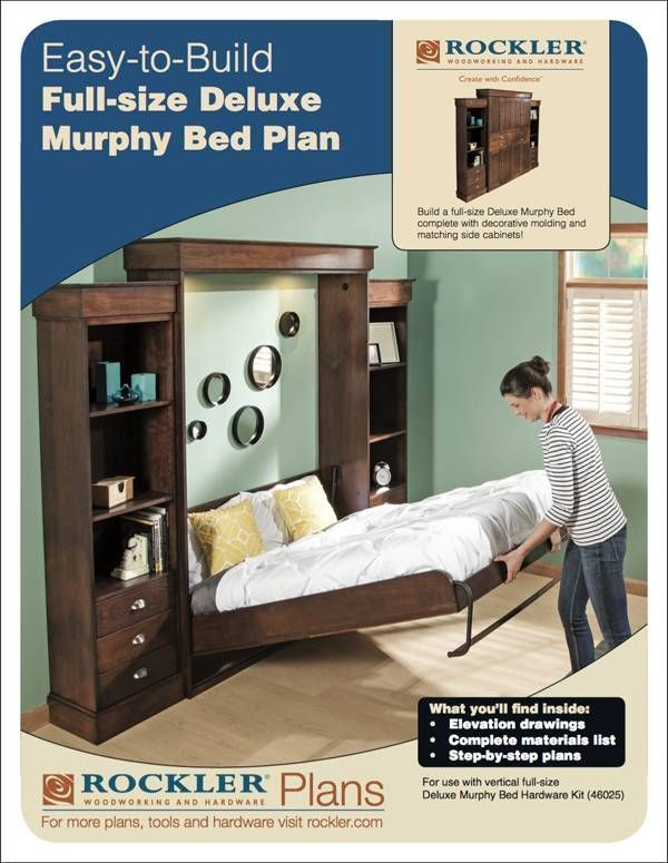 Rockler I Semble Murphy Bed Kits, Twin Size Deluxe Murphy Bed Kit