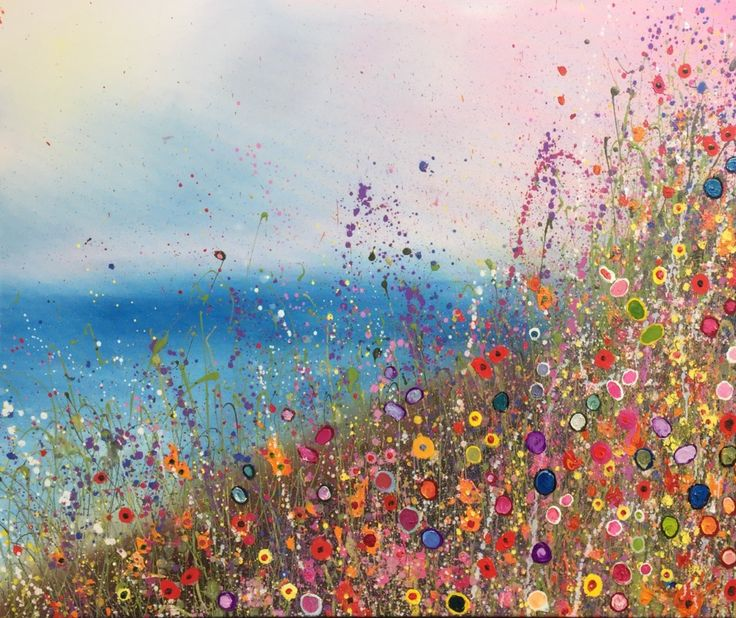 My new my heart is always dreaming of you oil painting is out now signed and titled a surreal dreamlike wild flowerscape