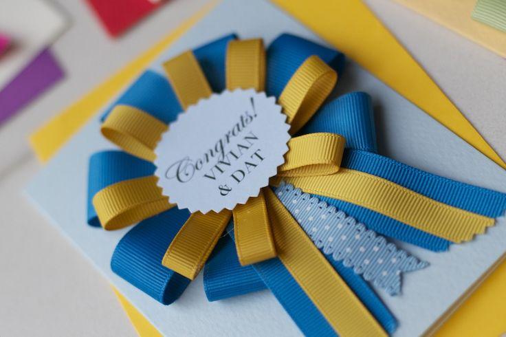 Bespoke Handmade Rosette Award Card These bespoke handmade rosette award card are perfect for: Maid of Honour | Bridesmaid | Best Man | Con...