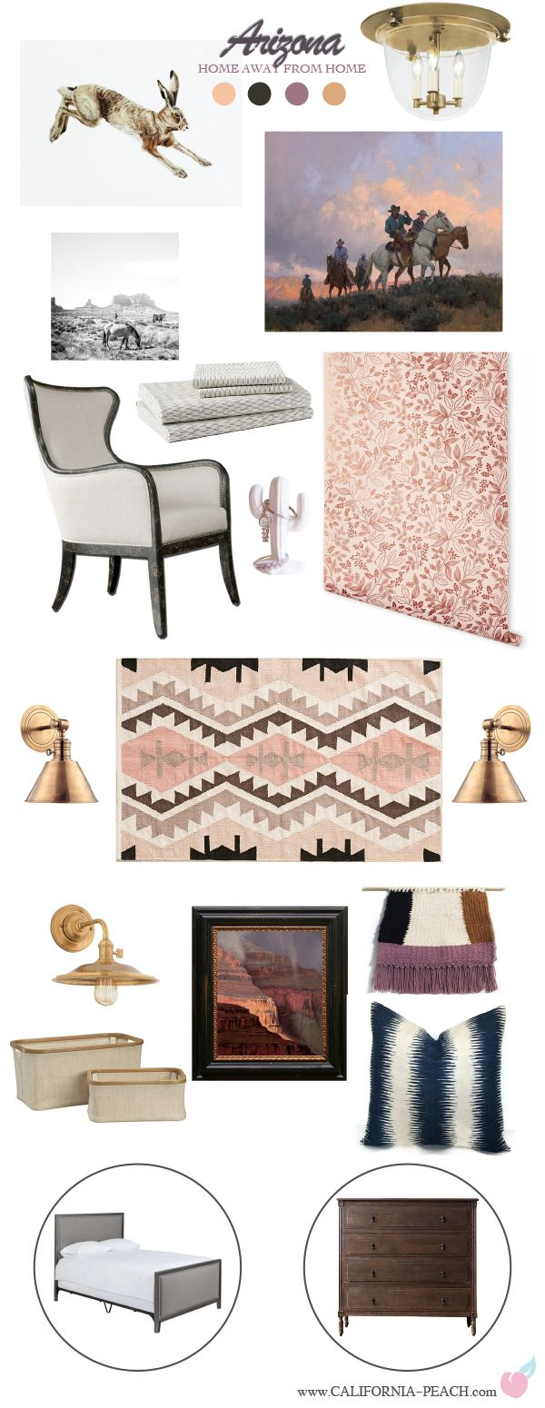 Arizona    Master Guest Bedroom Style Board    on California peach     Antique  Southwestern. Best 25  Southwestern cribs ideas on Pinterest   Aztec nursery