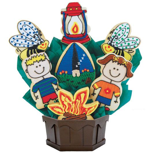 Happy Campers Cookie Bouquet | Unique Gift Baskets | Cookie Delivery