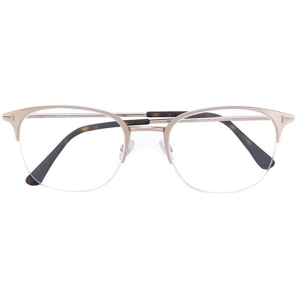 Tom Ford Eyewear half rim glasses ($357) ❤ liked on Polyvore featuring men's fashion, men's accessories, men's eyewear, men's eyeglasses, grey and tom ford mens eyeglasses