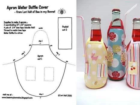 Delantal porta botellas