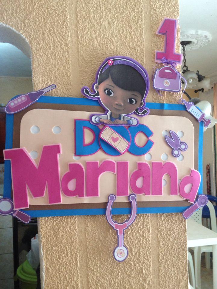 Banner doctora juguetes personalizado