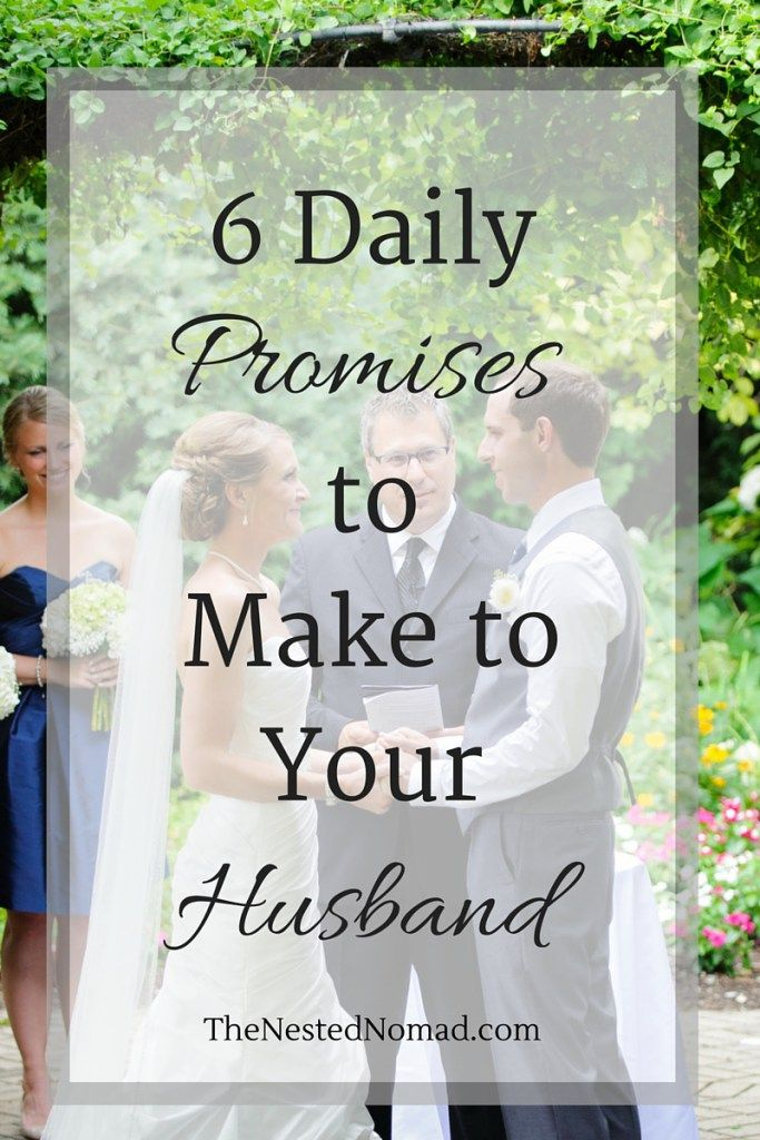promises to make to your wife
