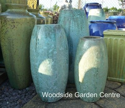 Extra Large Tall Glazed Opal Green Toggle Pot Planter | Woodside Garden  Centre | Pots to - 178 Best Extra Large Garden Pots Images On Pinterest