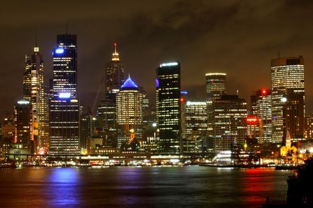 Interior Design and Home Decoration Artwork from Art Australia - buy this original signed print in 3 sizes.  Sydneyscape by David Rennie via http://www.art-australia.com/sydneyscape-by-david-rennie/