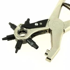 Pince emporte pièce REVOLVER en acier forgé - percer trous cuir