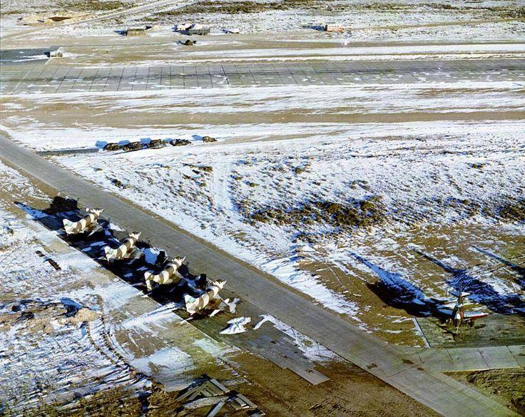 Linea de vuelo de A-4C Skyhawk en los últimos días de combate, San Julian  Colección Oscar Cuello Fuente: Gabriel Fioni