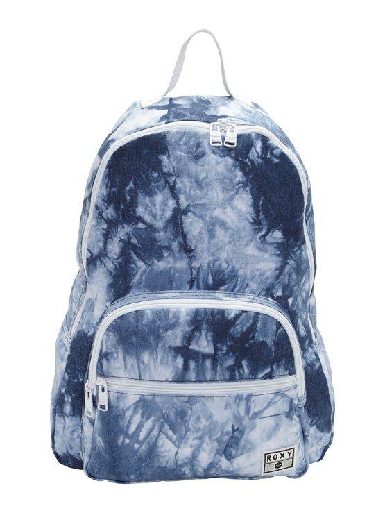 Roxy acid washed denim backpack.