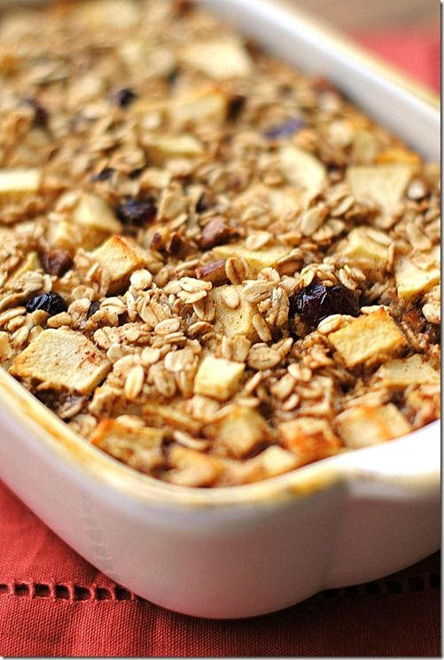 Apple Cinnamon Baked Oatmeal from Eat Yourself Skinny