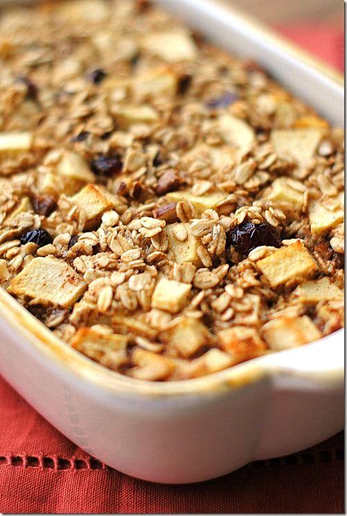 Eat Yourself Skinny!: Apple Cinnamon Baked Oatmeal