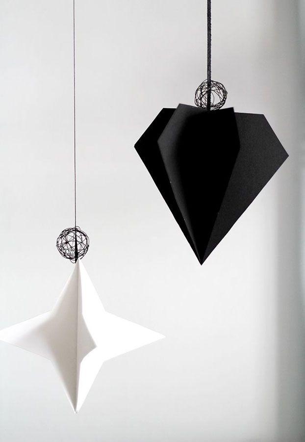 DIY inspiration: paper Christmas ornaments