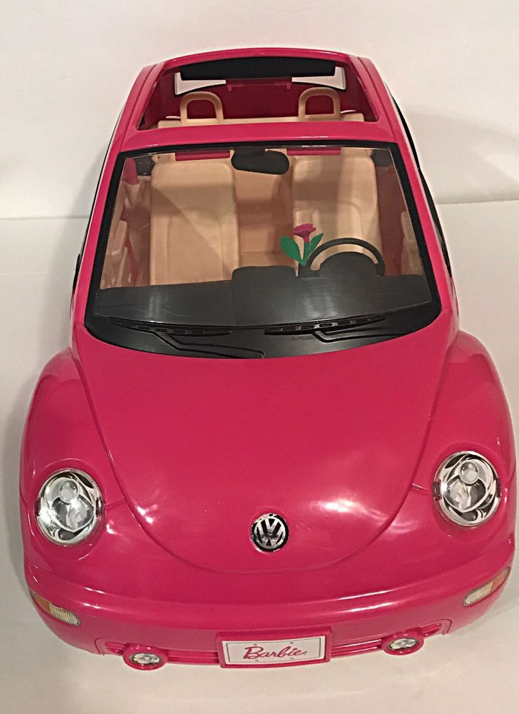 Barbie Hot Pink Volkswagen Beetle VW Bug Mattel 2000 with Flower  | eBay