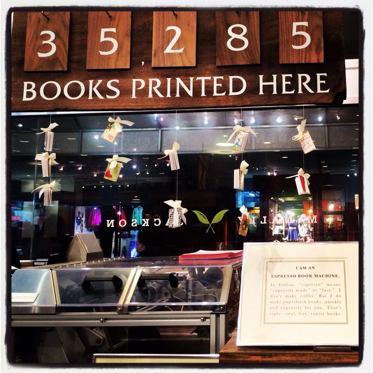 McJ Books, Soho, New York City.  Print your own book while you sip your coffee!