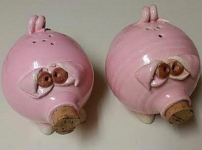 Vintage keramische varkens Salt en Pepper door upperswandamlane