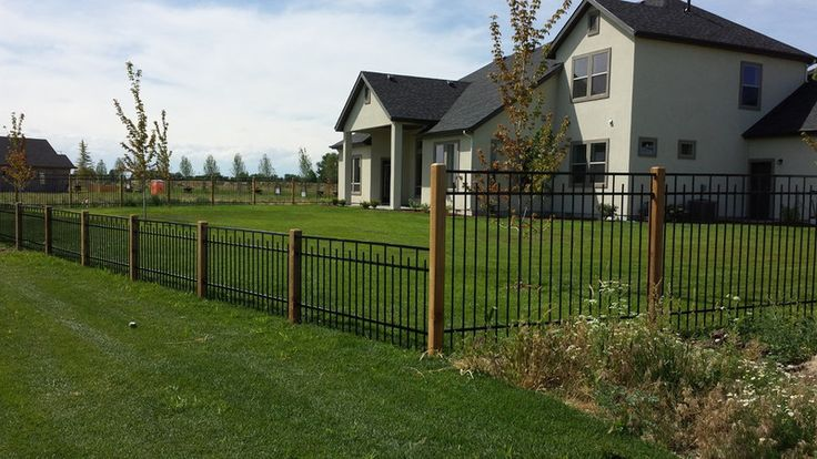 Frontier Fence Custom Iron Fencing Installation Services Boise Wood Post Fence Design Iron Fence