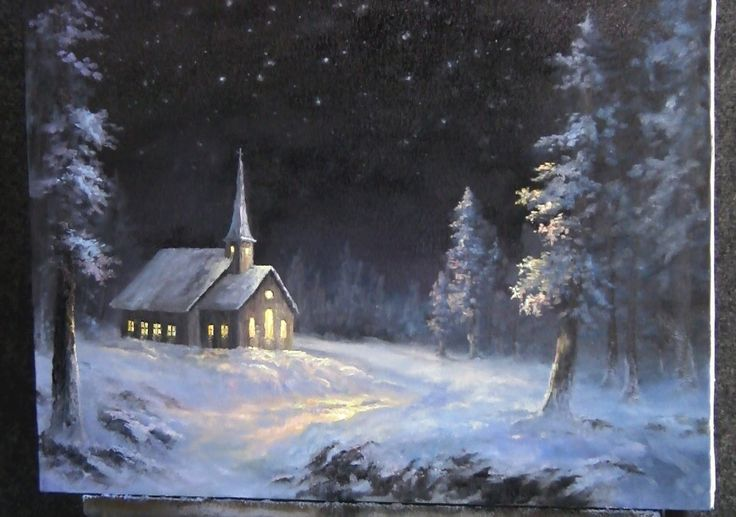 Do You Enjoy Painting Winter Scenes Watch Kevin As He