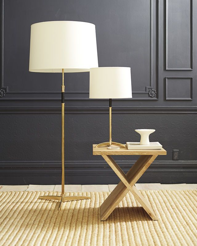 We like the floor and table version of this lamp handsome cole brass floor lamp and table lamp