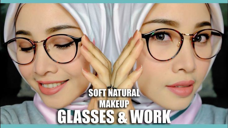 SOFT NATURAL MAKEUP FOR GLASSES & OFFICE OR INTERVIEW | TATA RIAS KACAMA...