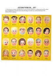Great for elementary students to practice appearance adjectives and closed ended questions