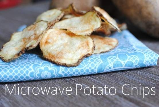 I might try this with sweet potatoes. Microwave potato chips