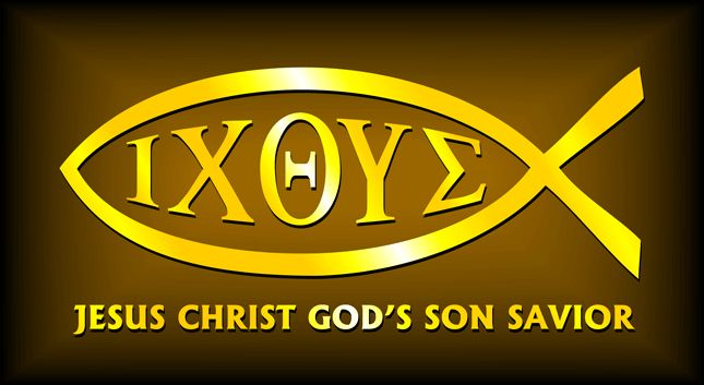 """Ψάρια (ikhthýs) est un mot grec qui signifie """"poisson"""". Le mot grec en lettres majuscules est ΙΧΘΥΣ, qui peut aussi être utilisé comme un acronyme signifiant, """"Jésus-Christ, le Fils de Dieu, Sauveur."""" ..........ψάρια (ikhthýs) is a Greek word meaning """"fish."""" The fish are a prevalent thing in the Bible.The Greek word in capital letters is ΙΧΘΥΣ, which can also be used as an acronym meaning, """"Jesus Christ, God's Son, Savior."""".........."""