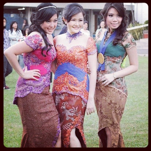 Colorful modern kebaya's
