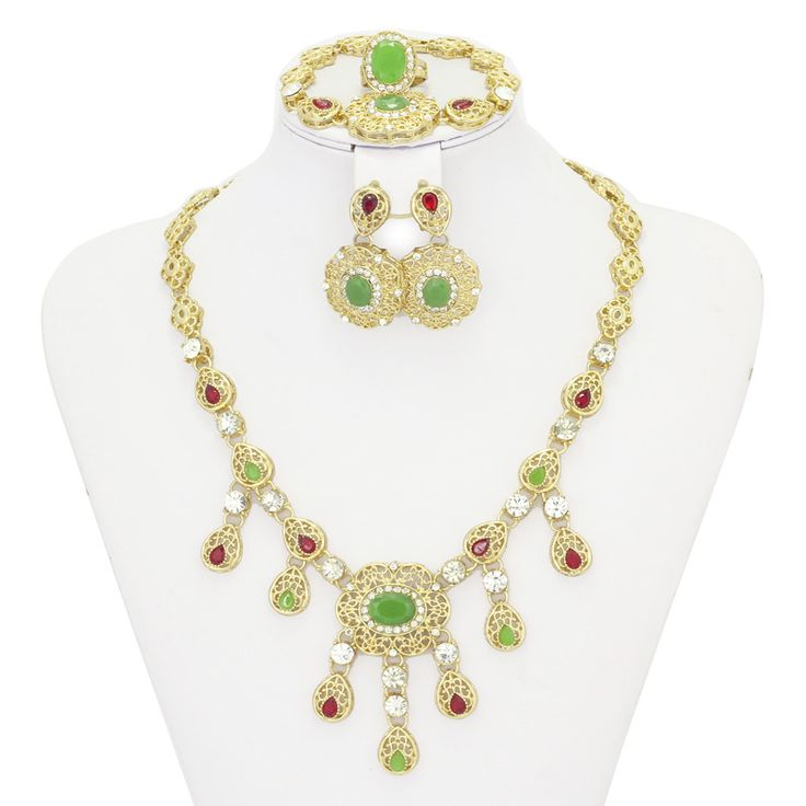 Find More Jewelry Sets Information about Retail Emerald Crystal Necklace 18k Gold Plated Jewelry Sets Dubai Ruby Earrings African Wedding African Beads Jewelry Set,High Quality jewelry collar necklace,China necklace cristal Suppliers, Cheap necklace skull from AE Jewelry&sport jerseys on Aliexpress.com
