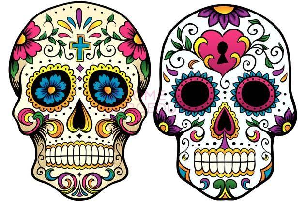 simple_sugar_skull_drawing.jpg (630×420)