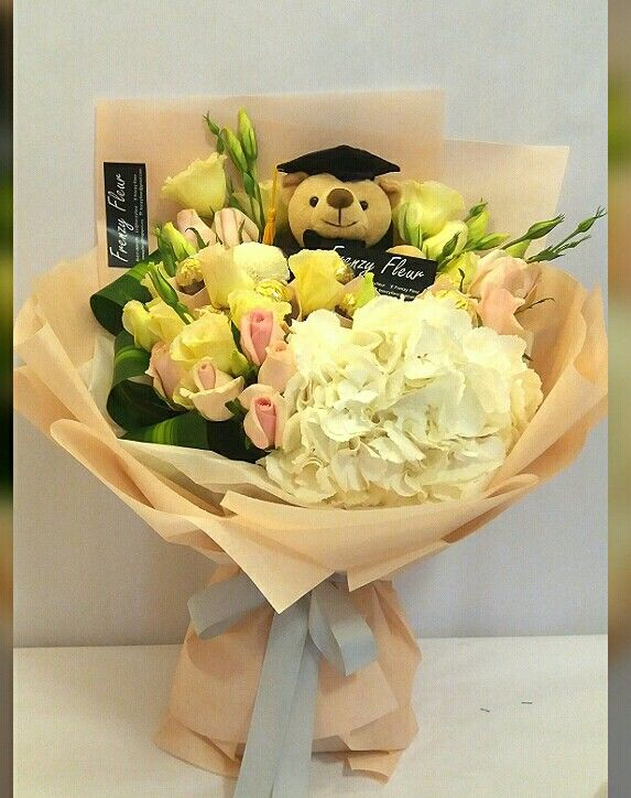 Big Bounty Beautiful. Happy graduation bouquet. Instagram @frenzyfleur. To order whatsapp +6017-2691079