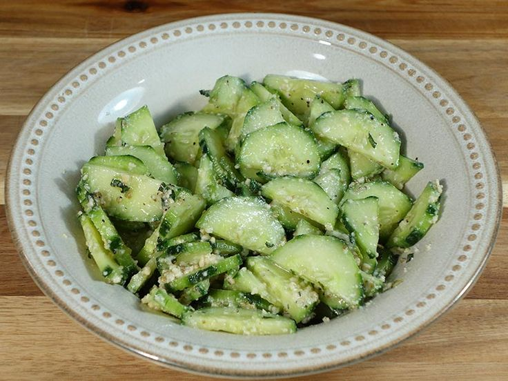 (WIN!!!!) Cucumber Salad | Manjula's Kitchen | Indian Vegetarian Recipes - PERFECT! I ate a full bowl (half of the recipe), and got up to make some more, so good this is! :)