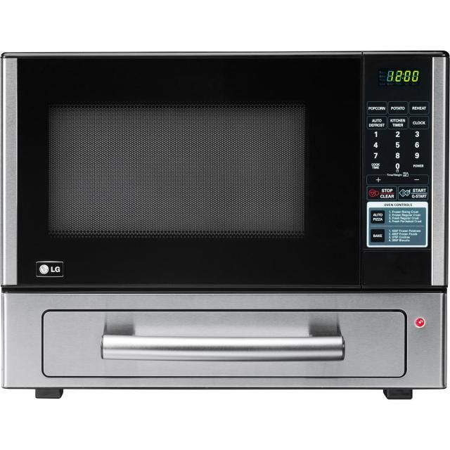 Can't decide between a micro and a toaster oven? Meet the LG Microwave with a baking oven: LG LCSP1110ST 1.1 cu. ft. Microwave with Baking