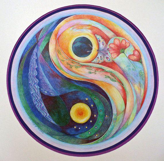print mandala: Yin Yang van ColorsofSilence op Etsy