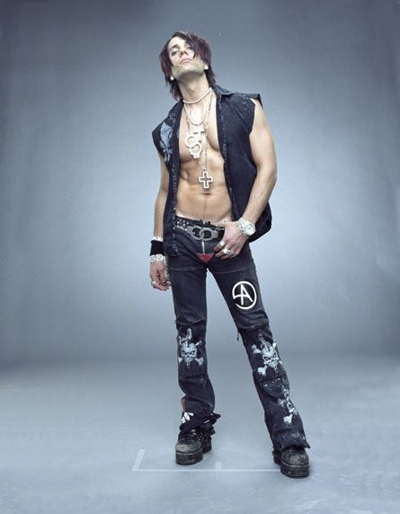 Criss Angel...ouch I think   I burned myself on this pic.