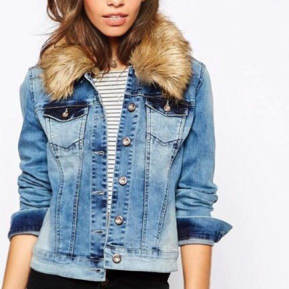 Denim Jacket With Fur on Pinterest. A selection of the best ideas ...