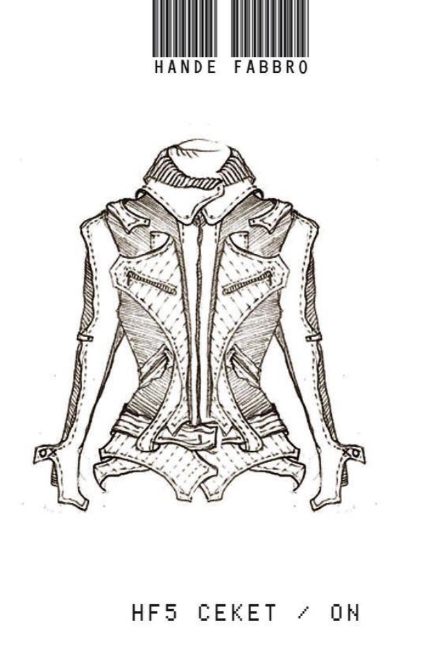 Leather Jacket Technical Drawing Fashion Illustration Fashion