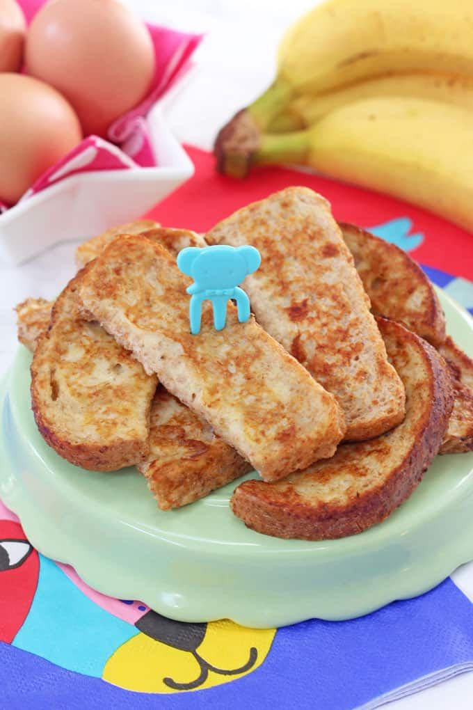 Baby French Toast { Eggy Banana Bread }