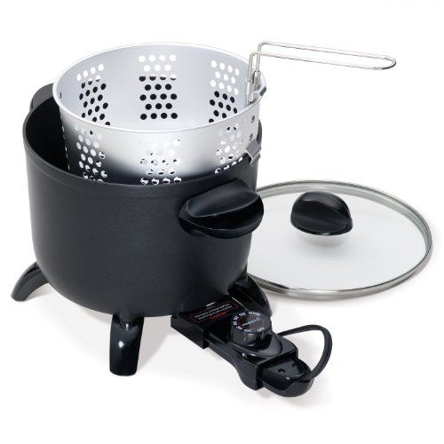 Presto 06006 Kitchen Kettle Multi Purpose Cooker: Steamer, Pasta Cooker,  Deep Fryer With Removable Temperature Control From 0 To 400 Degree For Easy  ...