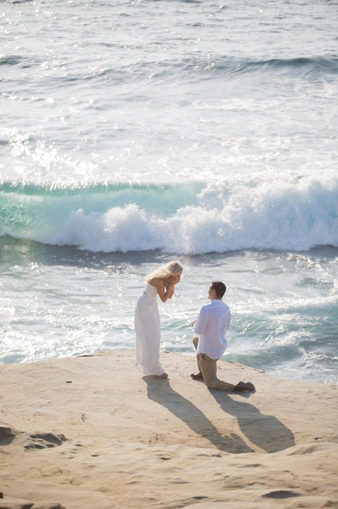 Literally In Tears Over This Gorgeous Beach Proposal At La Jolla Cove