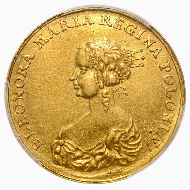 Gold medal of 4-ducats with the bust of Eleanor Maria Josepha of Austria by Jan Buchheim, 1670, Private collection