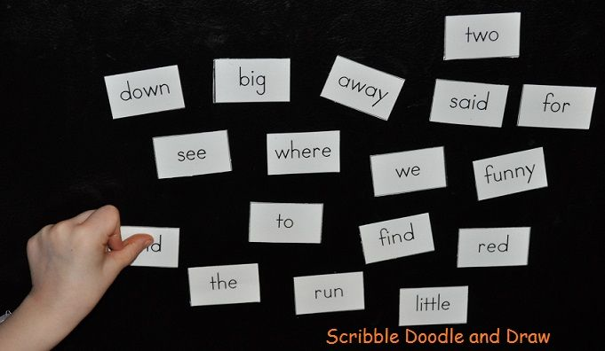 Magnetic Sight words from Scribble Doodle and Draw!